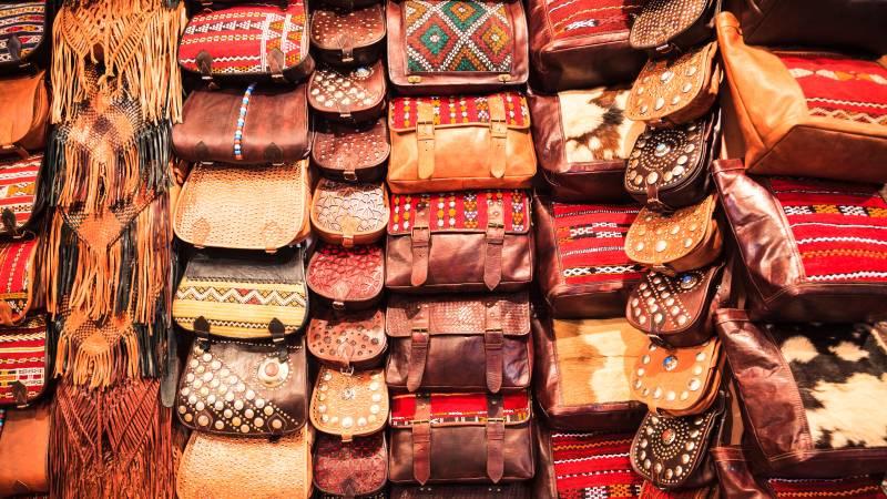 Marokkanische Lederwaren Lederhandtaschen