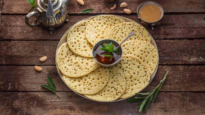 Marokkanische Pfannkuchen Baghrir