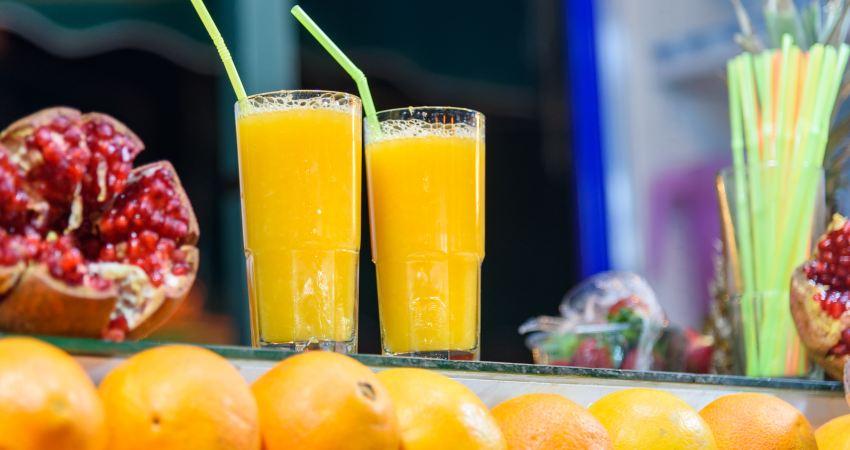 Frischer Orangensaft in Marokko