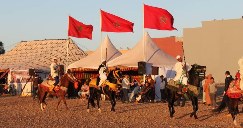 Reiterspiele Marokko