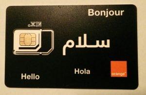 SIM Karte Internet Marokko